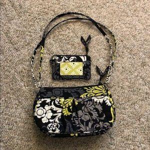 Vera Bradley Baroque Frankie Bag & ID Wallet Set